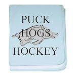 Puck Hogs Hockey baby blanket