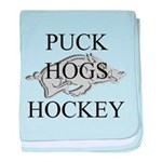 Puck Hogs Hockey baby blanket