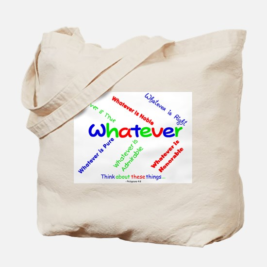Whatever - Blue, Red, Green Tote Bag