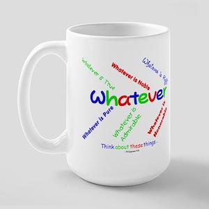 Whatever - Blue, Red, Green Large Mug