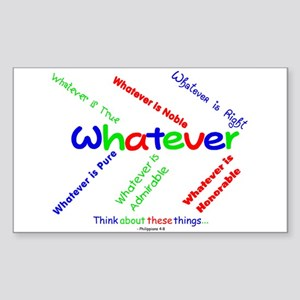 Whatever - Blue, Red, Green Rectangle Sticker
