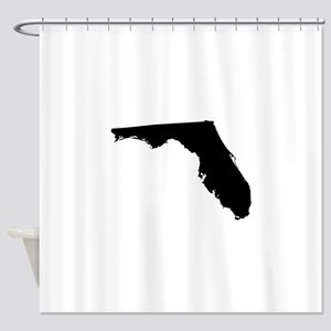 Florida State Shape Outline Shower Curtain