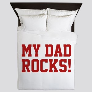 My Dad Rocks! Queen Duvet
