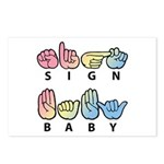 Sign Baby Captioned Postcards (Package of 8)