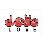 Captioned LOVE Postcards (Package of 8)
