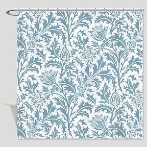 Pastel Teal William Morris Thistle Pattern
