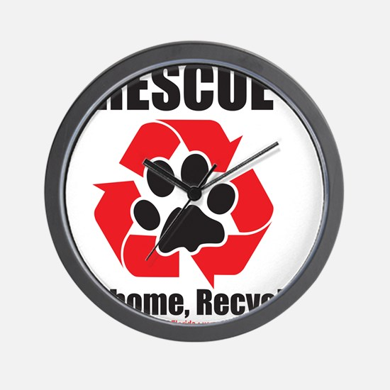 Rescue Recycle Wall Clock