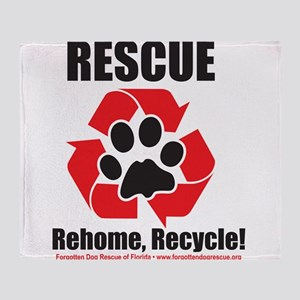 Rescue Recycle Throw Blanket