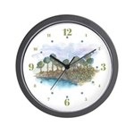 Trees by the Sea 2 Wall Clock