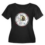 2016 Women's Plus Size Scoop Neck Dark T-Shirt