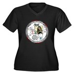 2016 Women's Plus Size V-Neck Dark T-Shirt