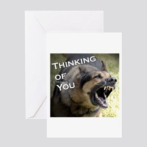 Thinking of You Parody card Greeting Card