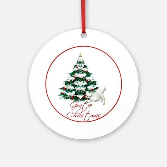 Goat Goatie Christmas Ornament