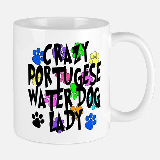 Crazy Portugese Water Dog Lady Mug