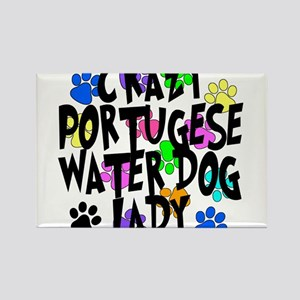 Crazy Portugese Water Dog Lady Rectangle Magnet