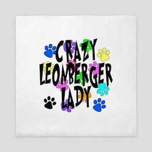 Crazy Leonberger Lady Queen Duvet