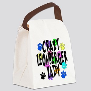 Crazy Leonberger Lady Canvas Lunch Bag