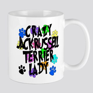Crazy Jack Russell Terrier Lady Mug