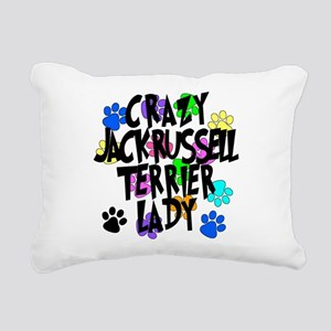 Crazy Jack Russell Terrier Lady Rectangular Canvas