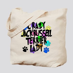 Crazy Jack Russell Terrier Lady Tote Bag