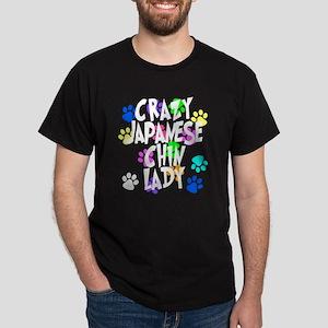 Crazy Japanese Chin Lady Dark T-Shirt