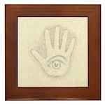 Earthtone Petro EyeHand Framed Tile