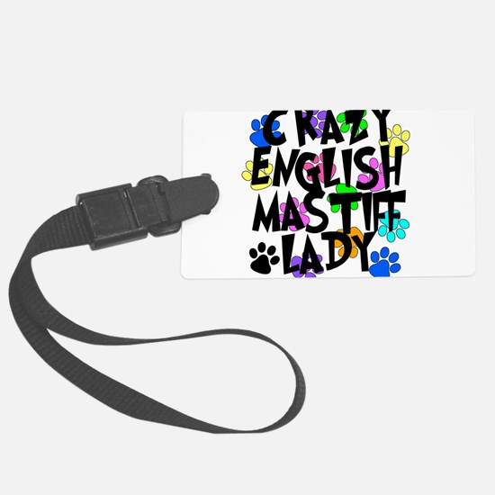 Crazy English Mastiff Lady Luggage Tag