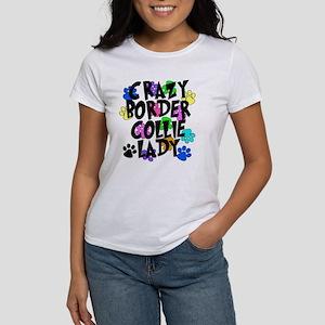 Crazy Border Collie Lady Women's T-Shirt