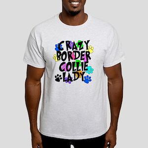 Crazy Border Collie Lady Light T-Shirt
