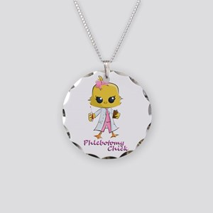 Phlebotomy Chick Necklace Circle Charm