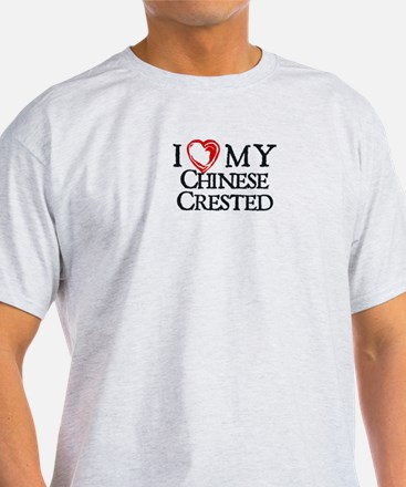 I Heart My Chinese Crested T-Shirt