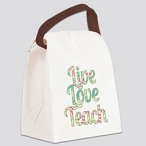 Live Love Teach Canvas Lunch Bag