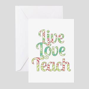 Live love teach greeting cards cafepress live love teach greeting cards pk of 20 m4hsunfo