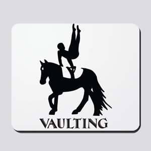 Vaulting Silhouette Mousepad