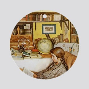 The Reader Ornament (Round)
