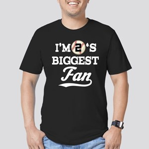 Baseball Fan Player Number 2 Men's Fitted T-Shirt