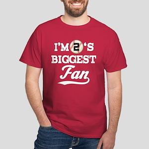 Baseball Fan Player Number 2 Dark T-Shirt