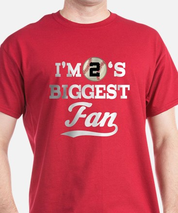 Baseball Fan Player Number 2 T-Shirt