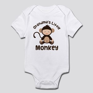 Grandma Grandchild Monkey Infant Bodysuit