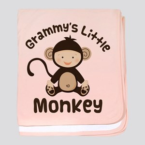 Grammy Grandchild Monkey baby blanket