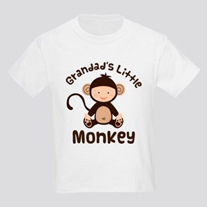 Grandad Grandchild Monkey Kids Light T-Shirt