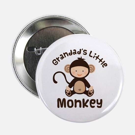 "Grandad Grandchild Monkey 2.25"" Button"