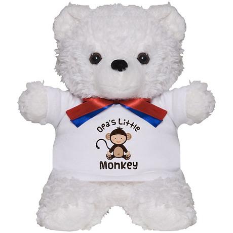 Opa Grandchild Monkey Teddy Bear