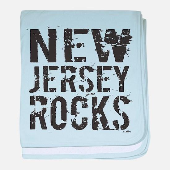 New Jersey Rocks baby blanket