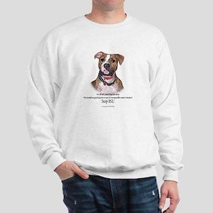 Pit Bull Dog STOP BSL Sweatshirt (2 sided)