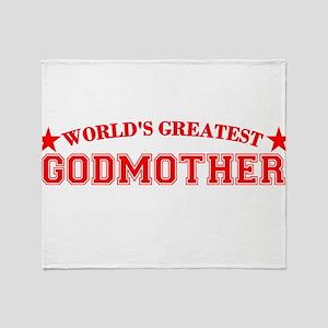 Worlds Greatest Godmother Throw Blanket