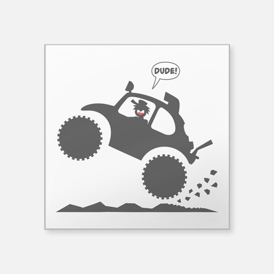 BAJA BUG WHEELIES black image Sticker