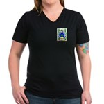 Bobyer Women's V-Neck Dark T-Shirt