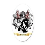 Boarder Oval Car Magnet