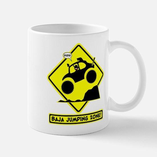 BAJA BUG JUMPING Road sign Mug